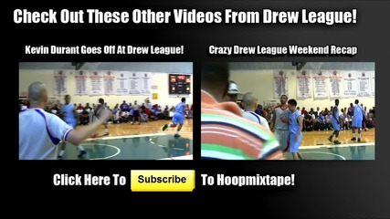 Kevin Durant Shuts The Gym Down At Drew League!!! Crazy Dunk Off Board!