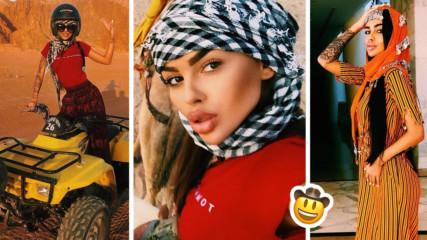 Сузанита скандализира и от Египет! Вижте екзотичната почивка на певицата