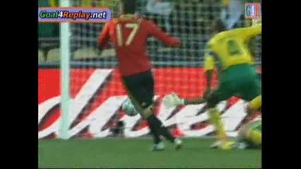 Spain vs South Africa 1 - 1