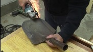 Майстор прави страхотен нож от лопата и дръжка от бетон