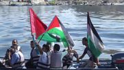 State of Palestine: Anti-blockade activists protest at sea ahead of solidarity ship's arrival