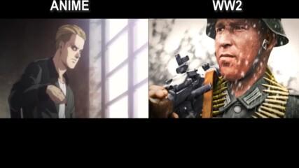 Attack On Titan_ Anime vs Wwii [comparison]