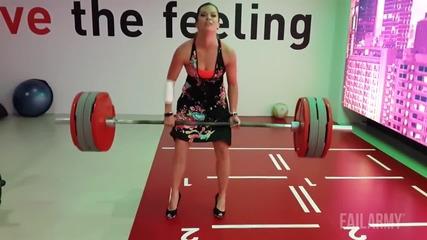 Невероятни тренировъчни провали във Фитнеса •» Компилация