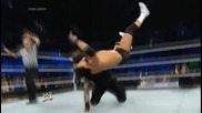 wwe the shield roman reigns jumping closeline and samoan drop and back suplex