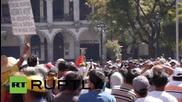 Стрелба с гумени куршуми по протестиращи в Перу