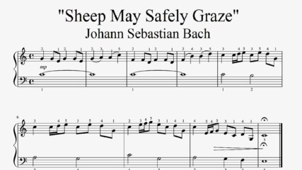 """Johann Sebastian Bach - Sheep May Safely Graze"" - Piano sheet music (by Tatiana Hyusein)"