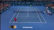Roger Federer vs Milos Raonic - Brisbane 2015 Final