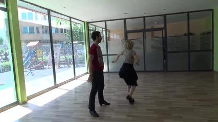 Dancing Stars - Албена и Калоян по време на репетиции - 07.05.2014