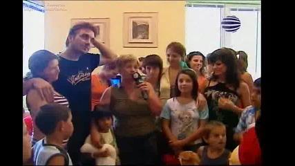 Преслава в дома за деца в Пловдив (Planeta Derby Plus)