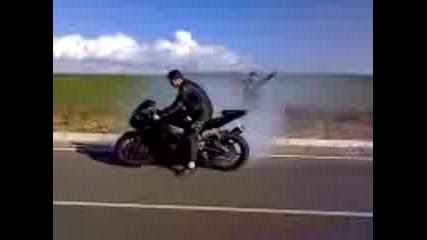 Yamaha R6 Burnout
