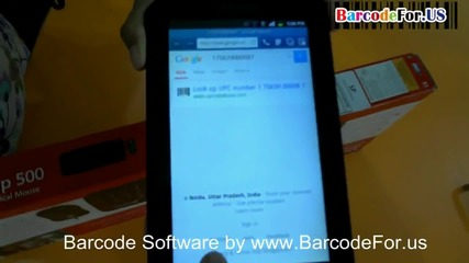 Scanning process of barcode with android devices