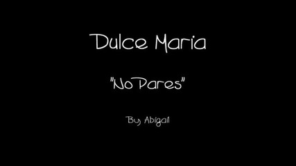 Dulce Maria - Remix no Pares