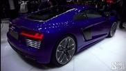 Първи поглед над Audi R8 e-tron - Женева 2015