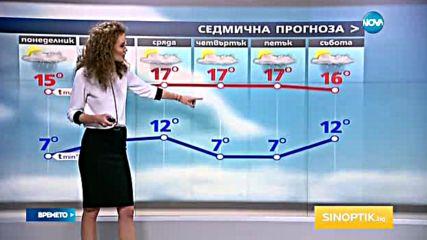 Прогноза за времето (09.10.2016 - централна емисия)