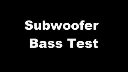 Subwoofer Bass Test - Rap_hip Hop