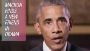 """""""High Five"""" за Макрон от Обама"""