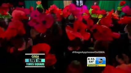 П Р Е М И Е Р А Lady Gaga - Applause Live on Gma Hd