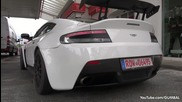 Aston Martin V12 Vantage S Gt4 - Start up, Revs, Accelerating!