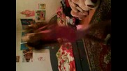 My little sister dancing Lazy Town