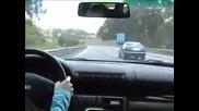 Шофьор със 150 кмч на магистралата губи контрол над колата и я овладява Vbox7