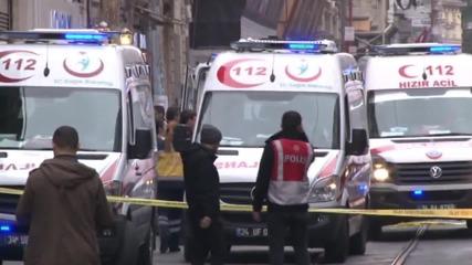 Взрив на камикадзе разтърси търговска улица в Истанбул