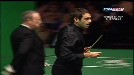 Ronnie OSullivan vs Mark Williams World Championship Snooker 2008 147 break frame