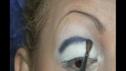 Грим в бяло и синьо
