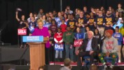 USA: Pharrell and Sanders campaign alongside Hillary Clinton in Raleigh