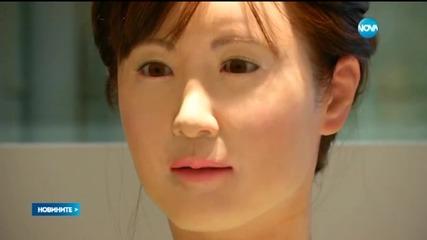 Робот посреща клиенти на магазин