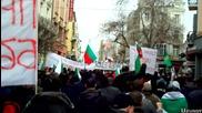 Протестиращите в Центъра на Пловдив на 3 Март