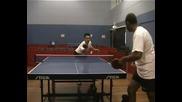 Уроци по тенис на маса - флип от бекхенд