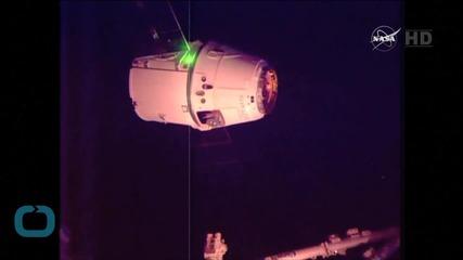 SpaceX Capsule Departs International Space Station