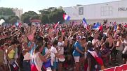 France: Marseille celebrates France's fourth goal