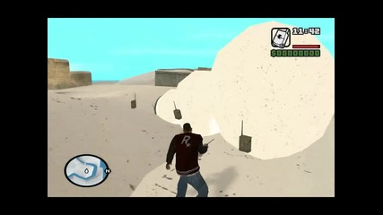 Making fun with snowman in San Andreas