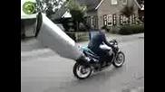 Най-дългия аспух на мотор