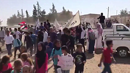 Syria: Protesters rally against US, Turkish army presence in Qamishli countryside