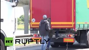 France: Migrants attempt to stow away on UK-bound lorries in Calais