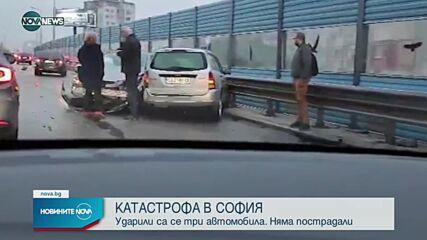 "Катастрофа на бул. ""Брюксел"" в София в посока летището"