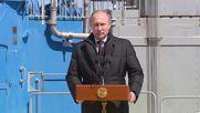 """Русия: Путин е доволен от изстрелването на ракетата от новия космодрум """"Восточний"""""""