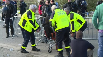 France: Bulldozers rip through Calais refugee camp amid heavy police presence