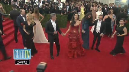 George and Amal Clooney Rule The Met Gala Red Carpet