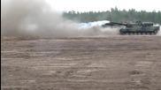 "Germany - Leopards tanks - Германски танкове ""леопард"" стрелят едновременно"