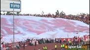 Ултрасите на Цска по време на мача с Лефски 09.05.2009 (част 2)