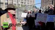 USA: Anti-abortionists protest outside Planned Parenthood HQ