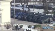 Засилени мерки за сигурност пред парламента преди протеста