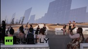 Spain: Models burn up 'first ever' solar powered catwalk in Seville
