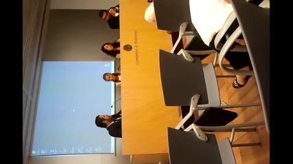 Презентация пред кметството и медиите в Бадалона, Испания, част 3