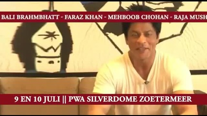 Shahrukh Khan and Mehboob Chohan live on stage 9th and 10th of july 2011 in Pwa Silverdome Netherlan