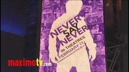 Callan Mcauliffe at Never Say Never Premiere in Los Angeles