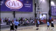 Kedar Edwards throws it off the backboard to himself over a Defender!